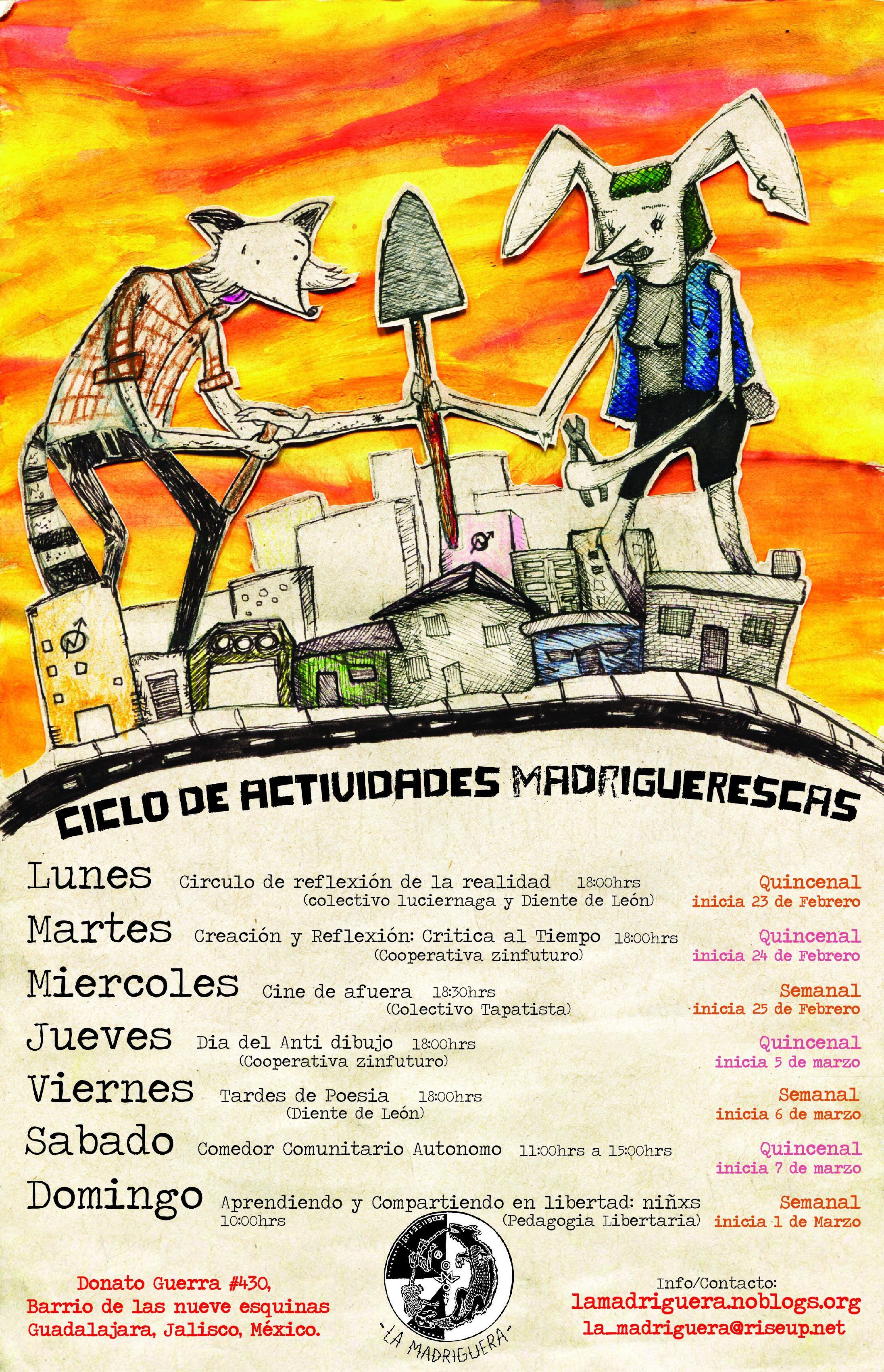 Ciclos madriguerxs/colaboración con abraham